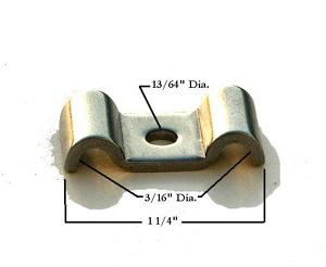 3/16 X 3/16 STAINLESS STEEL LINE CLAMP