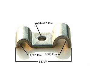 1/4 X 3/8 STAINLESS STEEL LINE CLAMP