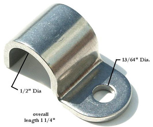 1/2 STAINLESS STEEL LINE CLAMP