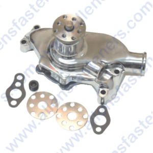 SB CHEVY SHORT POLISHED ALUMINUM WATER PUMP