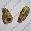 BRASS AIR COUPLER WITH 1/4 MALE PIPE