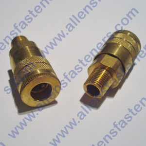 BRASS AIR COUPLER W/1/4 MALE PIPE