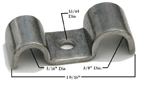 5/16 X 3/8 STAINLESS STEEL LINE CLAMP
