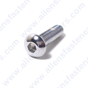8mm-1.25 CHROME METRIC BUTTON HEAD ALLEN BOLT
