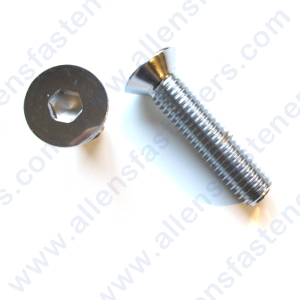 10-24 CHROME FLAT HEAD ALLEN BOLT