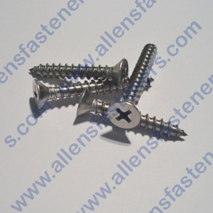 # 6 FLAT HEAD PHILLIPS STAINLESS STEEL SHEET METAL SCREW