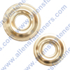 STAINLESS STEEL FINISH WASHERS WITH FLANGE