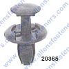 A20365 COWL VENT PUSH TYPE RETAINER,HEAD DIA: 18MM,STEM LENGTH 13MM,FITS IN 7.5MM SQUARE HOLE,BLACK NYLON,GM 2001-ON,PONTIAC AZTEK(10301966,10425306).