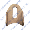 TUBE TAB WITH 3/8 SLOTTED HOLE
