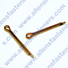 METRIC COTTER PINS (ZINC PLATED GOLD).