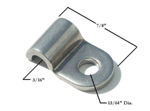 3/16 STAINLESS STEEL SINGLE LINE CLAMP