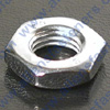 CHROME LEFT HAND JAM NUTS (FINE),CHROME PLATED,WRENCHING SIZE IS LISTED.