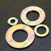 AN WASHERS (.030 THICK),GRADE 5,ARE YELLOW ZINC (GOLD),AND O.D. IS LISTED.MADE IN U.S.A.