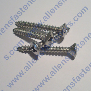 #10 STAINLESS STEEL OVAL PHILLIPS SHEET METAL SCREW